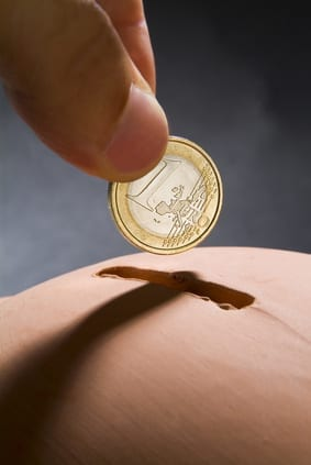 Metto Euro nel salvadanaio