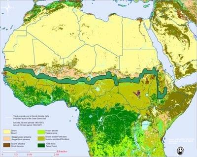 Una muraglia verde per fermare l'avanzata del Sahara