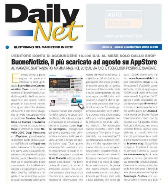 DailyNET: BuoneNotizie il magazine digitale più scaricato da AppStore