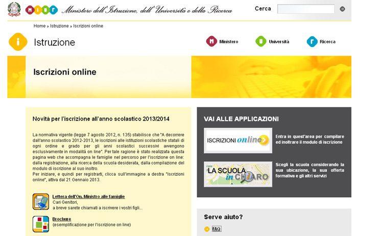 iscrizioni on line scuola