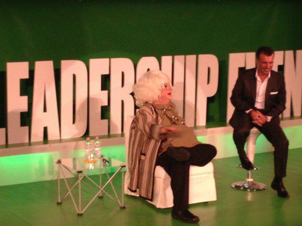 Platinette con Roberto Re all'Italia Leadership Event