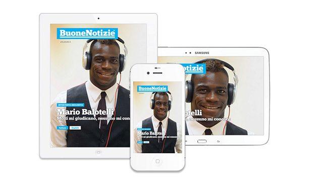 Mario Balotelli sulla copertina di BuoneNotizie
