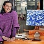 Daniela Troina Magrì nel suo atelier romano La Canzone del Mare - foto di Brunella Iorio