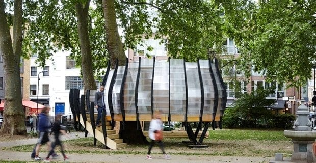 Co-working in un parco pubblico? A Londra, nasce un ufficio tra gli alberi