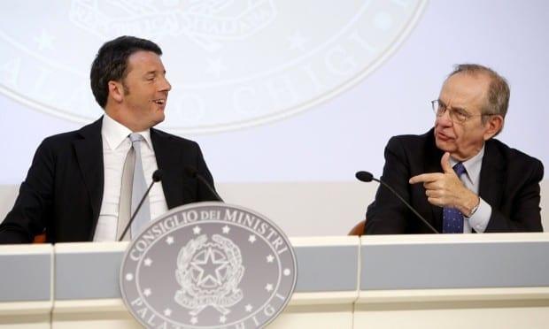 Matteo Renzi e il ministro Padoan