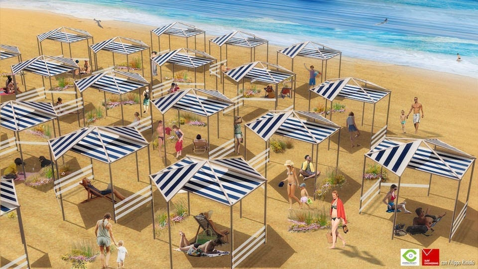 """Il turismo post coronavirus. Come sarà l'estate 2020 in Italia. Il progetto """"Mare 2020. La misura e il paesaggio"""" dell'architetto Raffaele Gianitelli e l'artista Filippo Riniolo"""
