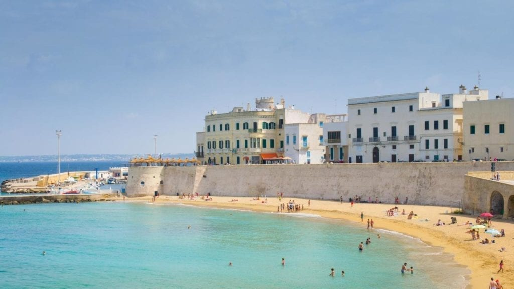 Una delle spiagge di Gallipoli (Puglia)