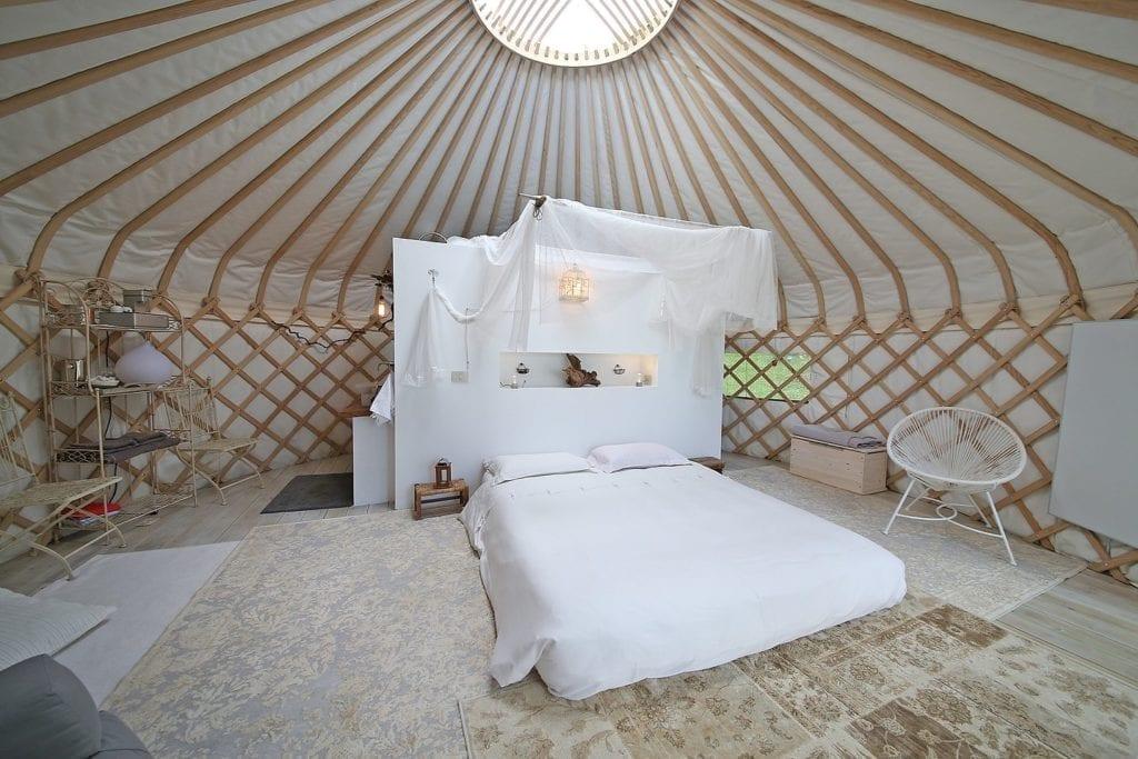 Glamping nella yurta sul lago di Garda
